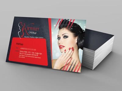 Kırmızı Ağda Salonu Kartvizit Tasarımı